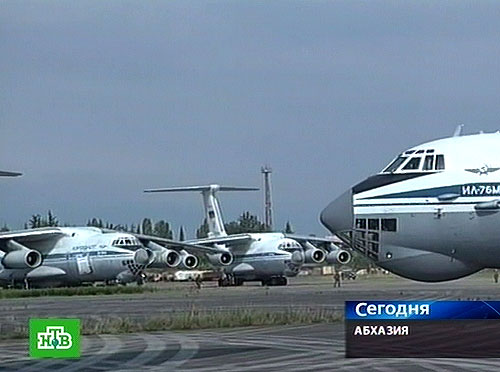 Russian transport aircraft in Sukhumi airport
