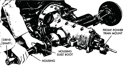 Figure 42—Drive Shaft Housing Removal