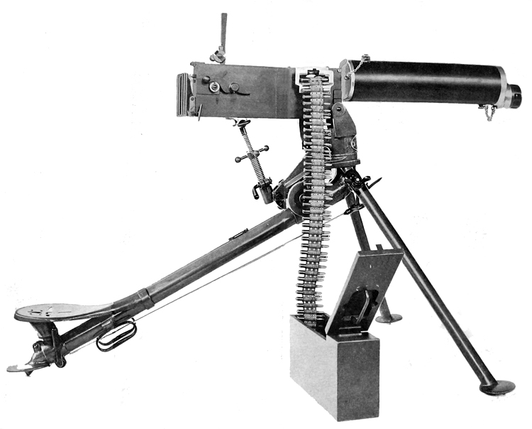 Plate I. Right side view of gun on tripoid, ready to fire
