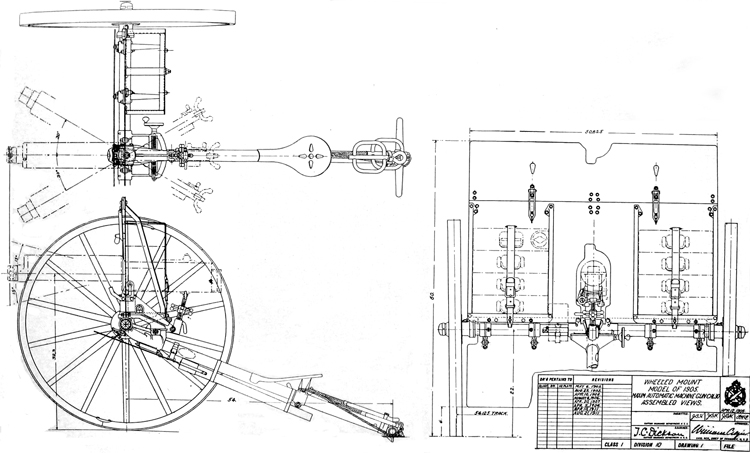 Plate XVII. Assembled views of wheeled mount