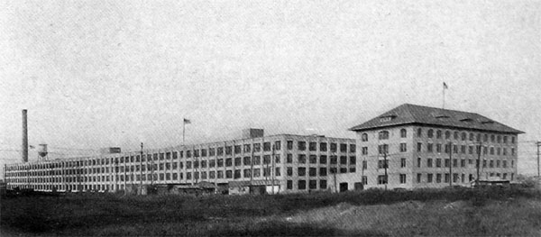 Lincoln Motor Company Plant at Detroit, Rushed to Completion in Record Time for Manufacture of Liberty Engines.