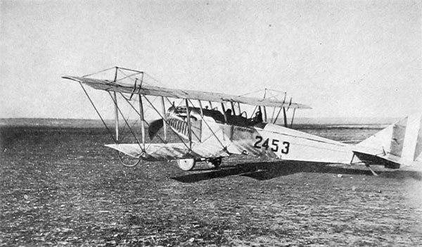 A Curtiss Training Plane at Kelly Field U. S. Air Service Photo
