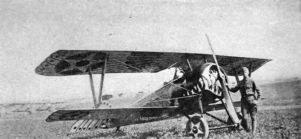 "Captain K. G. Pulliam, Jr., and His 15-Meter, Decorated Nieuport Plane, ""The Jazbo"""