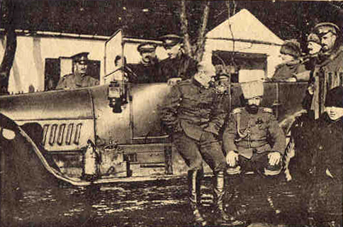 A group of staff officers of the Horse Guards, photographed near Radom, in Poland, during the war