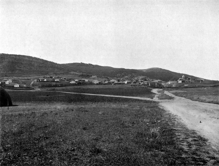 Komary village, occupied by the detachments under General Gribbe