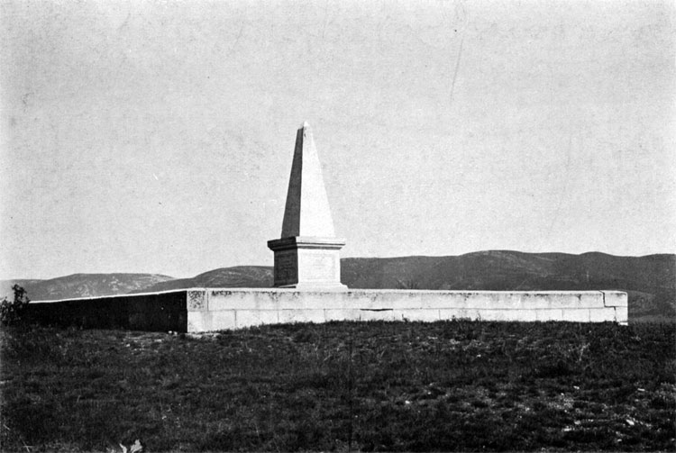 Balaclava battle monument, erected by the British
