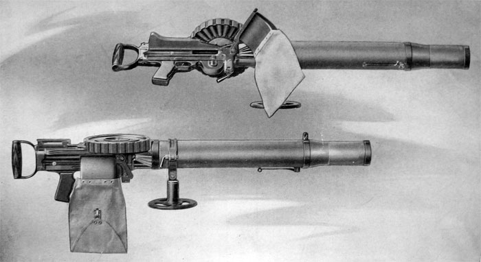 PLATE 10.— Gun Complete as Mounted on Aeroplane