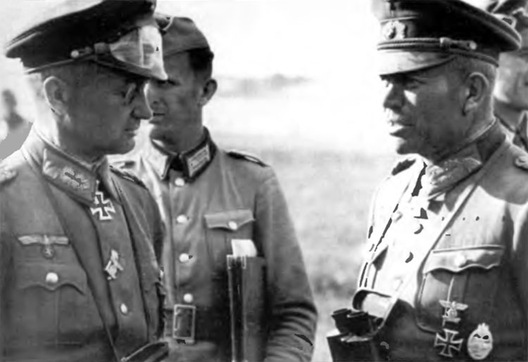 Model and Guderian discuss details of the operation. June 1941
